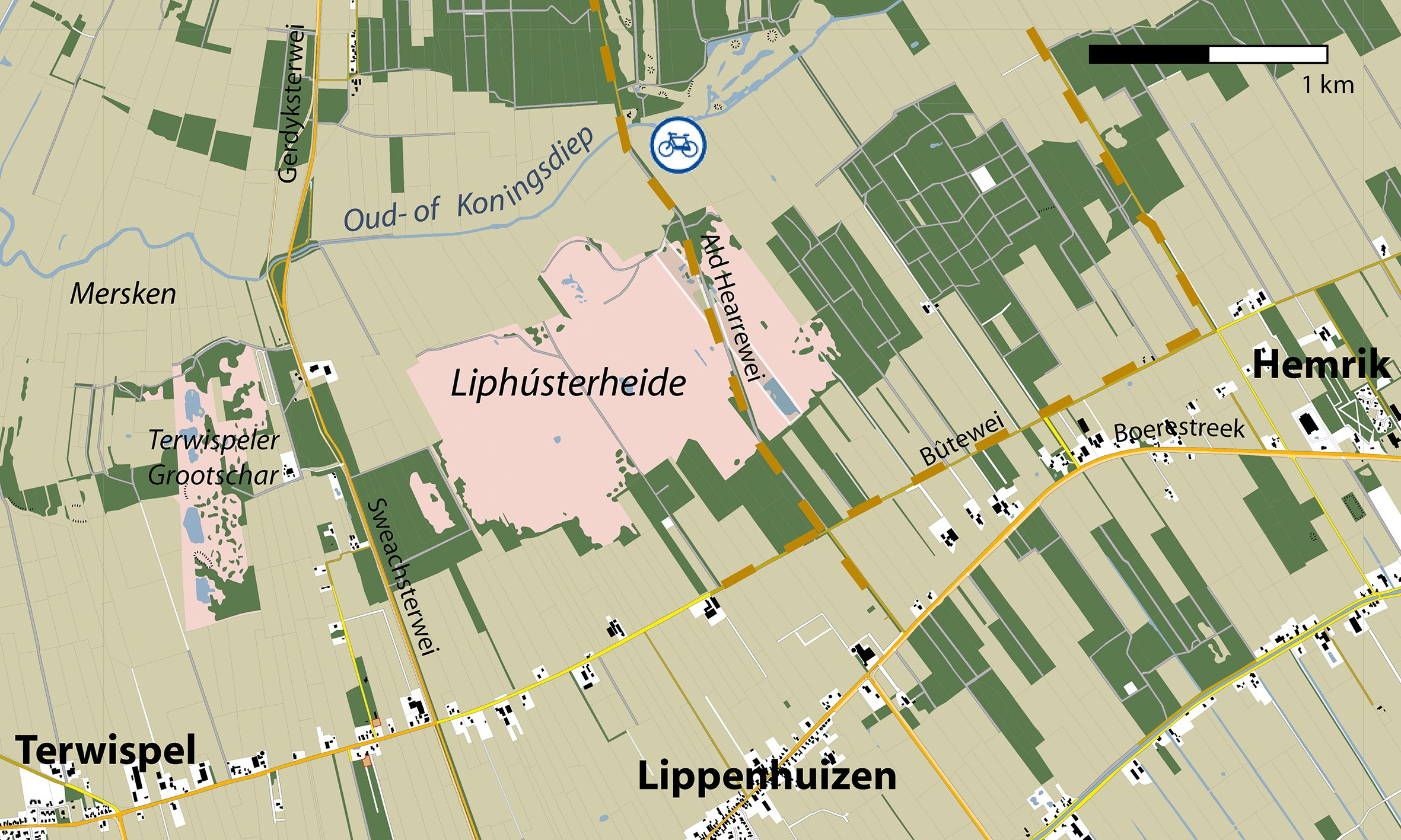 Gebiedskaart Liphusterheide