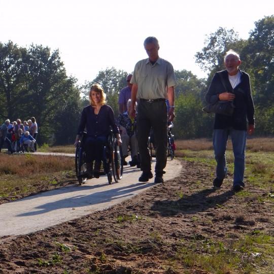 rolstoelpad in natuurgebied het Ketliker Skar