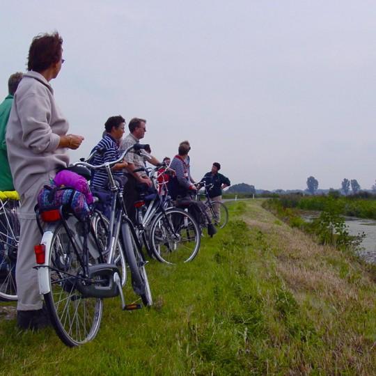 Op fietsexcursie met de gids
