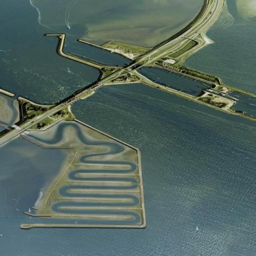 Impressie Vismigratierivier Afsluitdijk