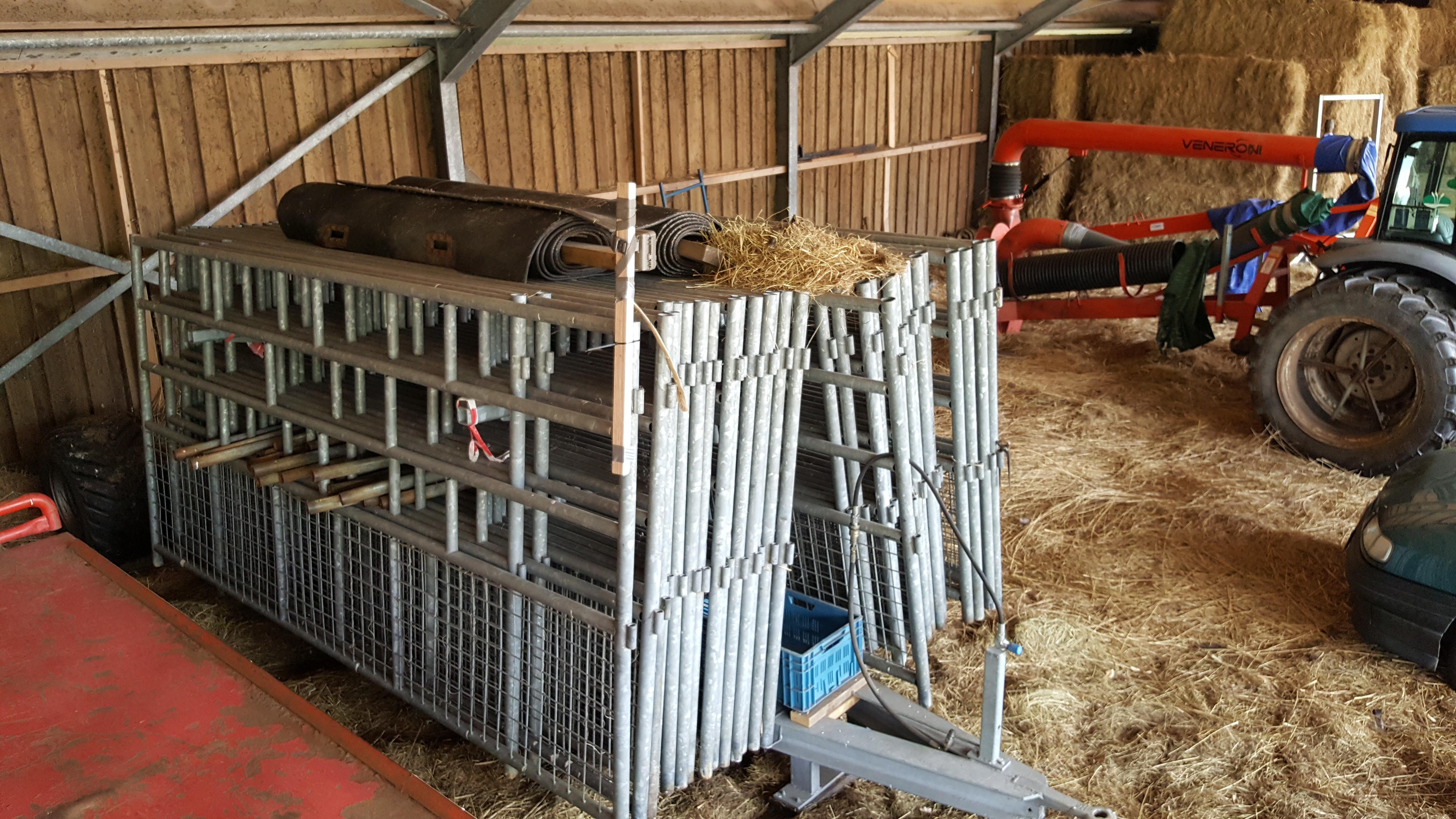 Wilde eend op hekkenwagen