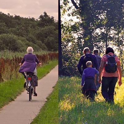 Wandel-fietsfolder It Fryske Gea
