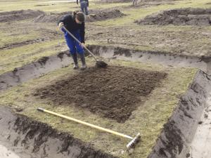 Het zaaiklaar maken van de grond