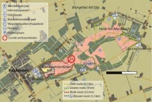 Locatie van de werkzaamheden op het Mandefjild in Bakkeveen
