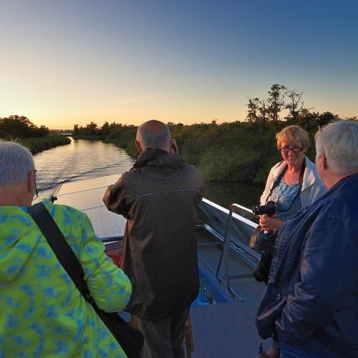 Excursie op boot De Blaustirns van It Fryske Gea