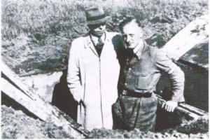 schuilkeldertje in de droppingslocatie tijdens WOII