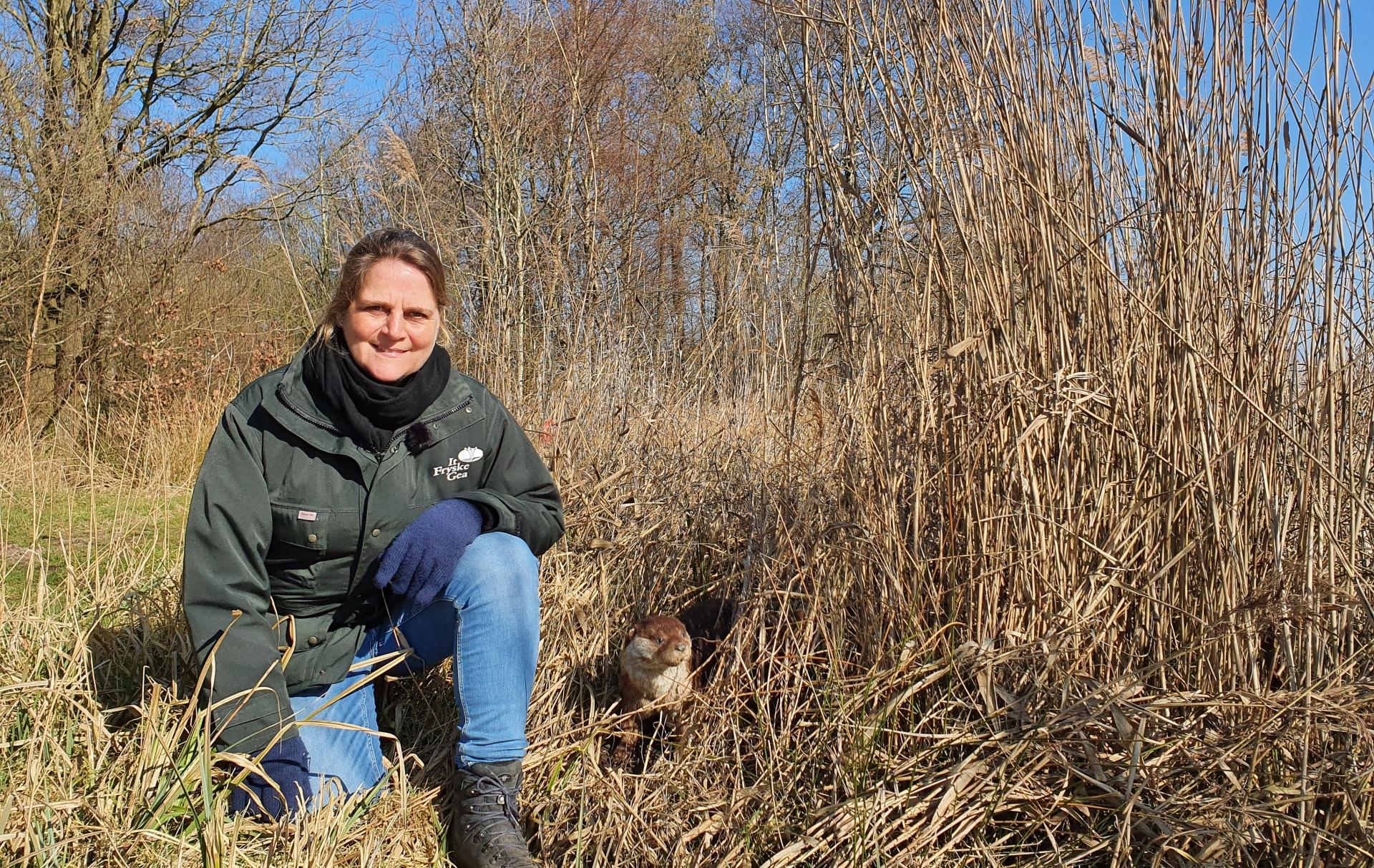 Lydia Op Pad In Een Otter Leefgebied